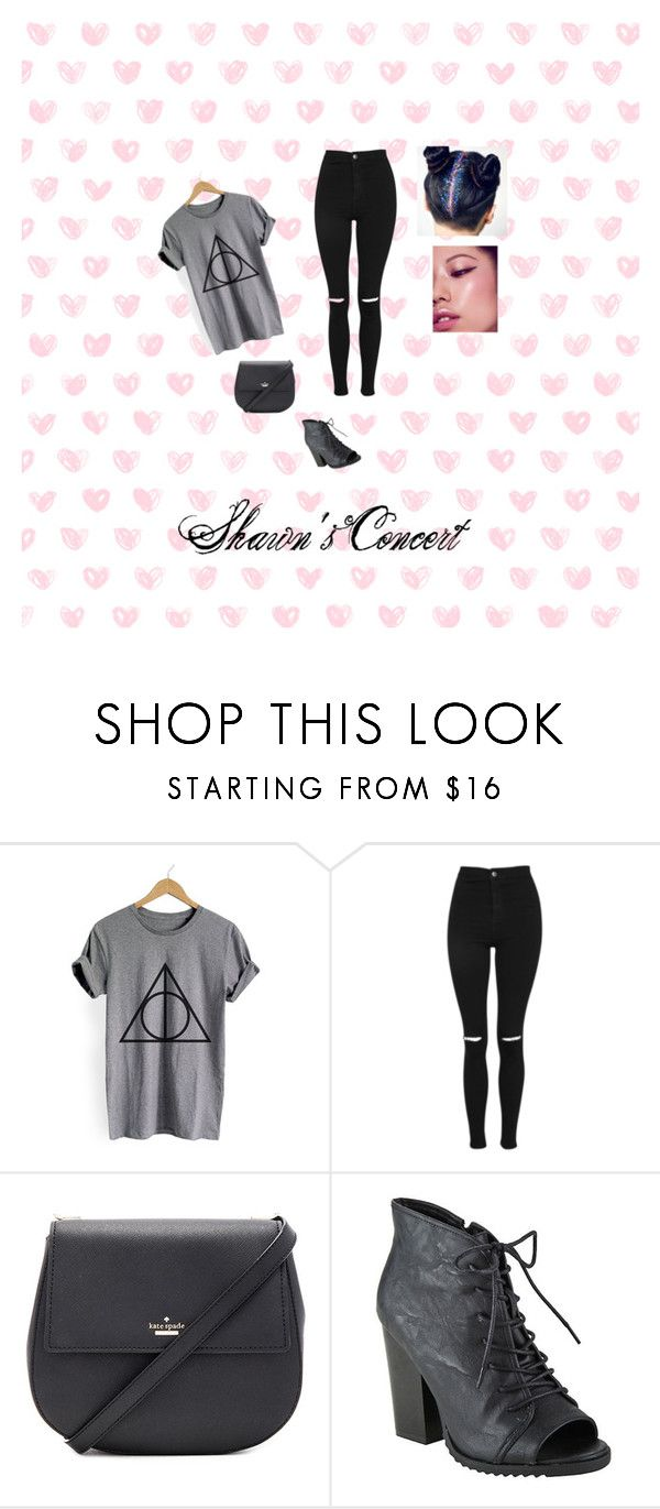 """""""Shawn Mendes Concert"""" by sarahbear231 on Polyvore featuring WithChic, Topshop, Kate Spade and Hot Topic"""