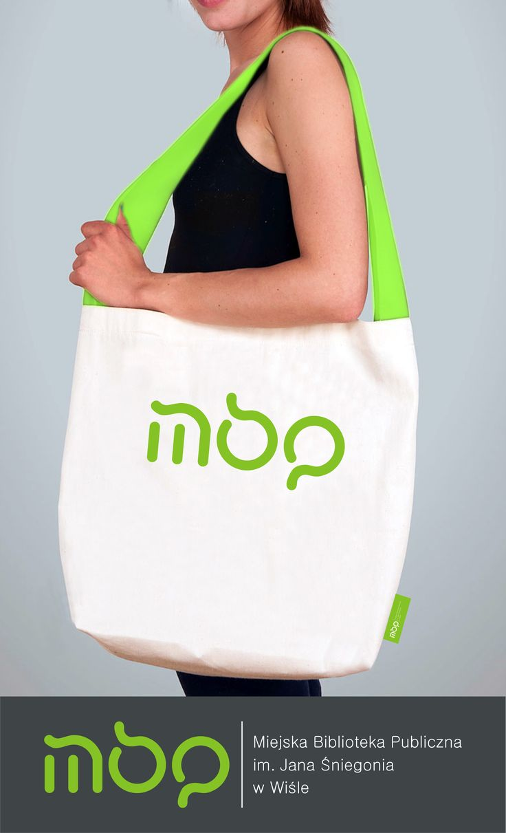 Logotype + gadget (cotton bag) Project for Public Library in Wisla