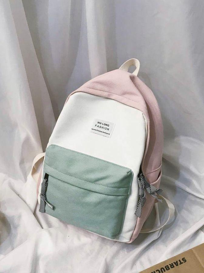 Color Slogan Rucksack Vidi Bags In 2020 Trendige Rucksacke Madchen Taschen Schulranzen Madchen