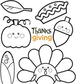 Adorable Thanksgiving Colouring Good For Preschoolers Or Early School Age Kids