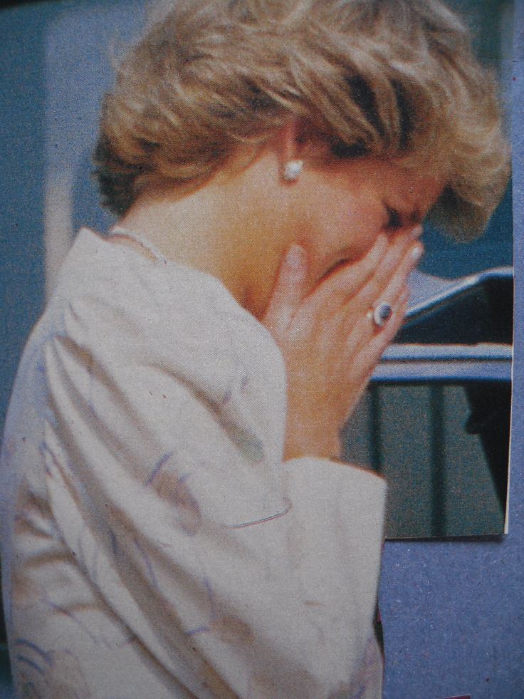 Princess Diana crying over the issue of Camilla and there being 'three in her marriage' with Charles.  Camilla being the other woman.