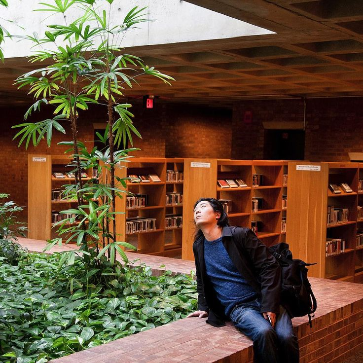 Miller Prize Finalist Yugon Kim of IKD at the I.M. Pei Library in Columbus, Indiana | photo by Hadley Fruits, Exhibit Columbus
