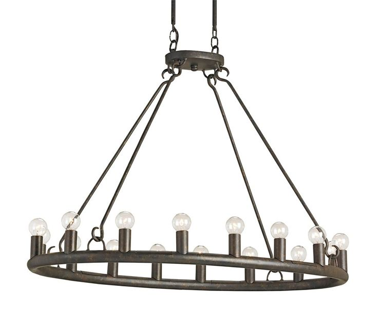 Currey And Company 9812 Wilford 16 Light Oval Chandelier With Wrought Iron Frame At LightingDirect