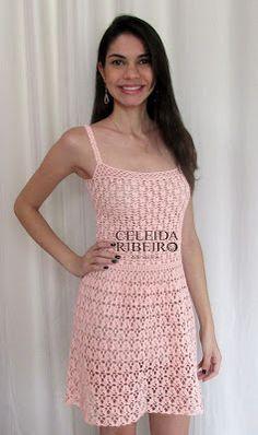 Celeida Ribeiro: Vestido em crochê delicado!https://www.facebook.com/celeidaribeiro/?fref=photo