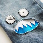Creative Ways to Update Kids' Clothes: How to Sew a Monster Patch on Jeans