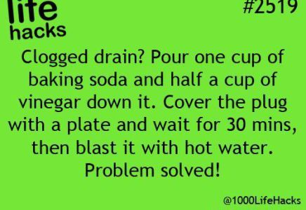 DIY Life Hacks & Crafts : Natural drain unblocker and add 1/2 cup salt … tested and works!: