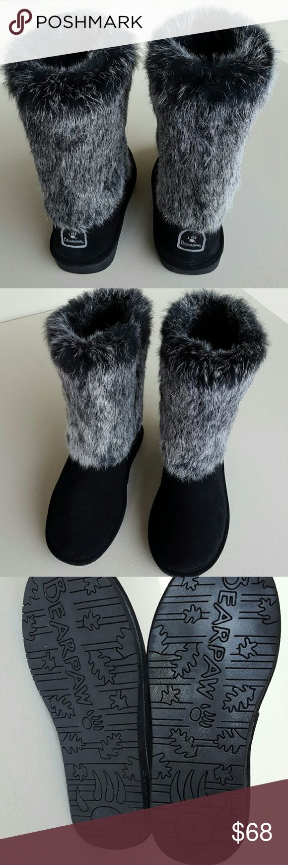 "Bearpaw Boots with Fur BEARPAW Fur Boots  Perfect Condition  Clean  10"" high  No trades Please Bearpaw  Shoes"
