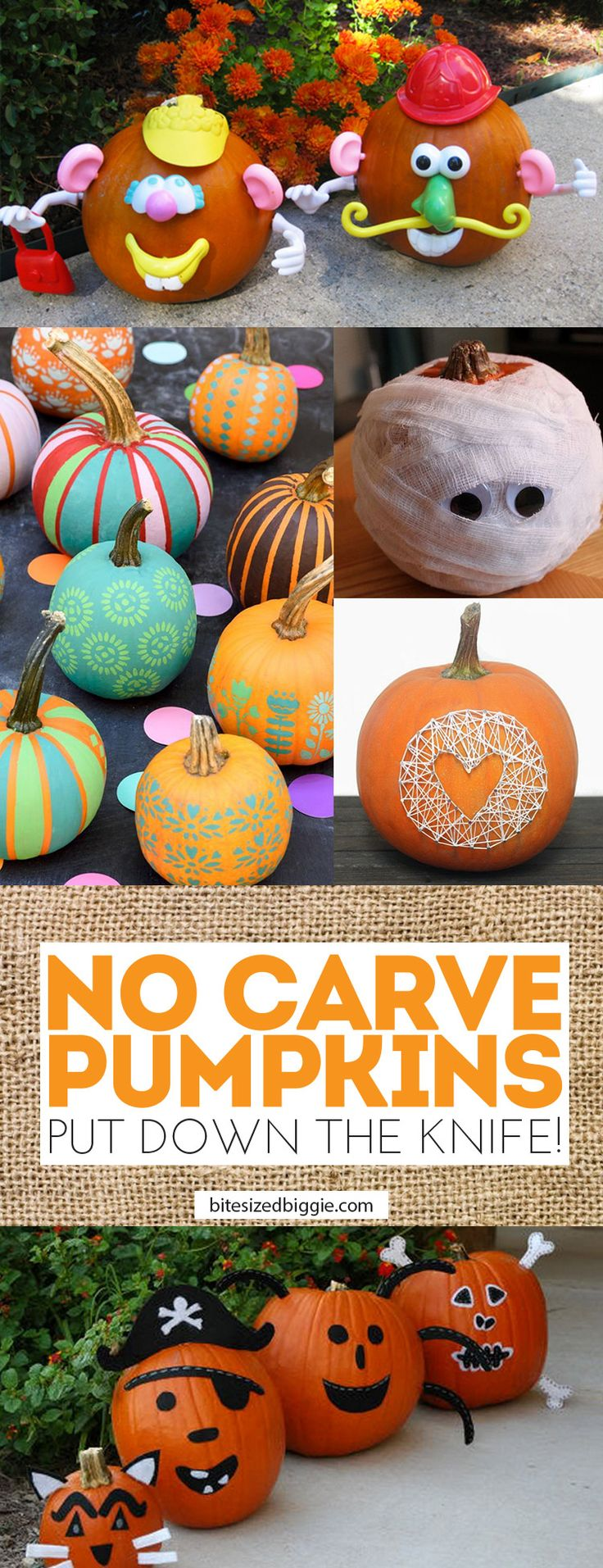 Put Down That Knife! 14 Awesome No Carve Pumpkin Ideas!