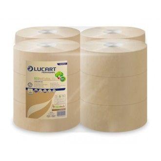 nagytekercses toalettpapír eco natural lucart mini 2 rétegű 19 cm átm. 150m