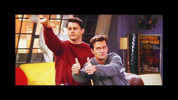Chandler y Joey de FRIENDS se reunieron y ya se nota cuánto tiempo pasó