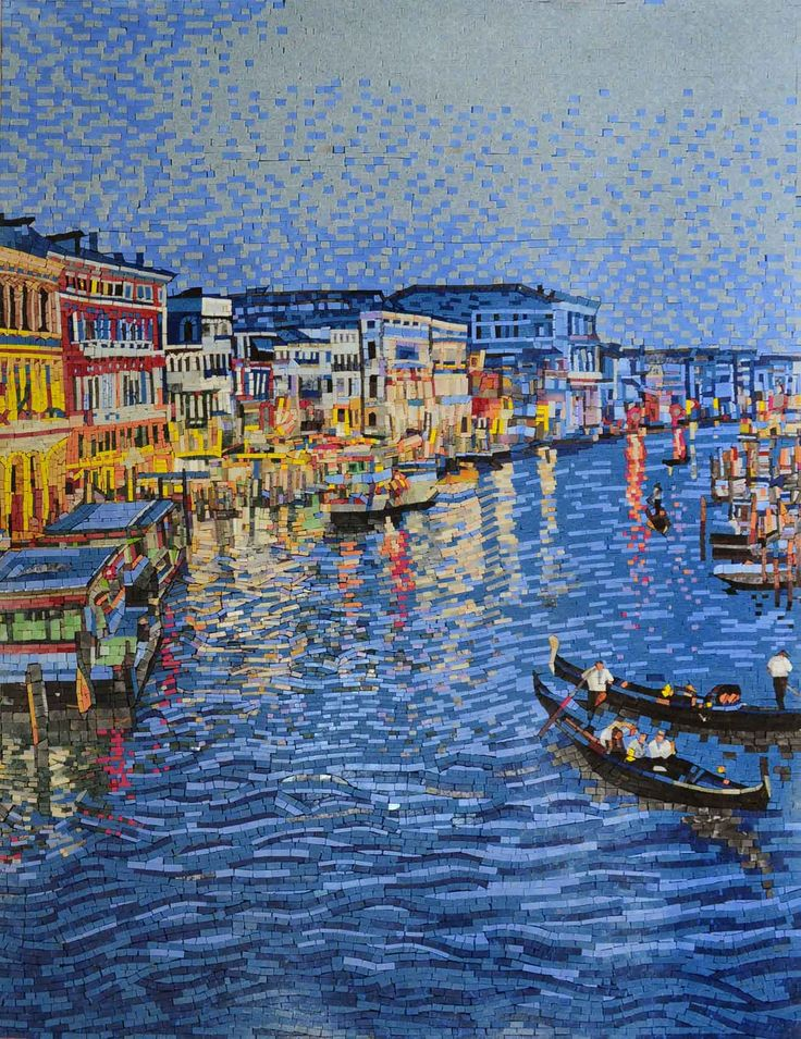 Venice at Night Colorful Mosaic Marble Wall Decor MS494A Email to a Friend Share…