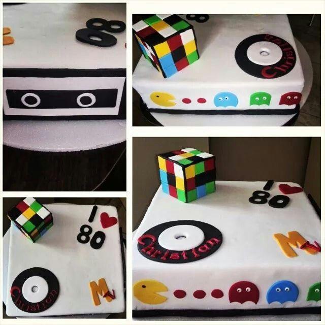 #cake #80s #rubik #pacman #paulis bakery