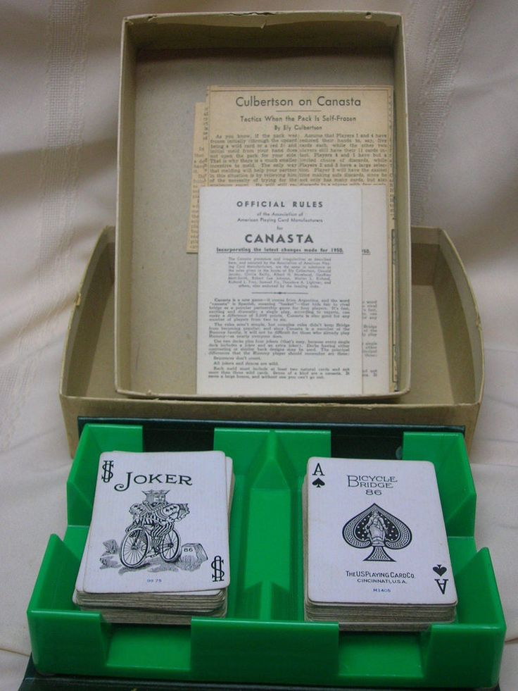 Canasta Card Game Original Box Complete with Instructions 2 Double Decks #AmericanPlayingCardManu