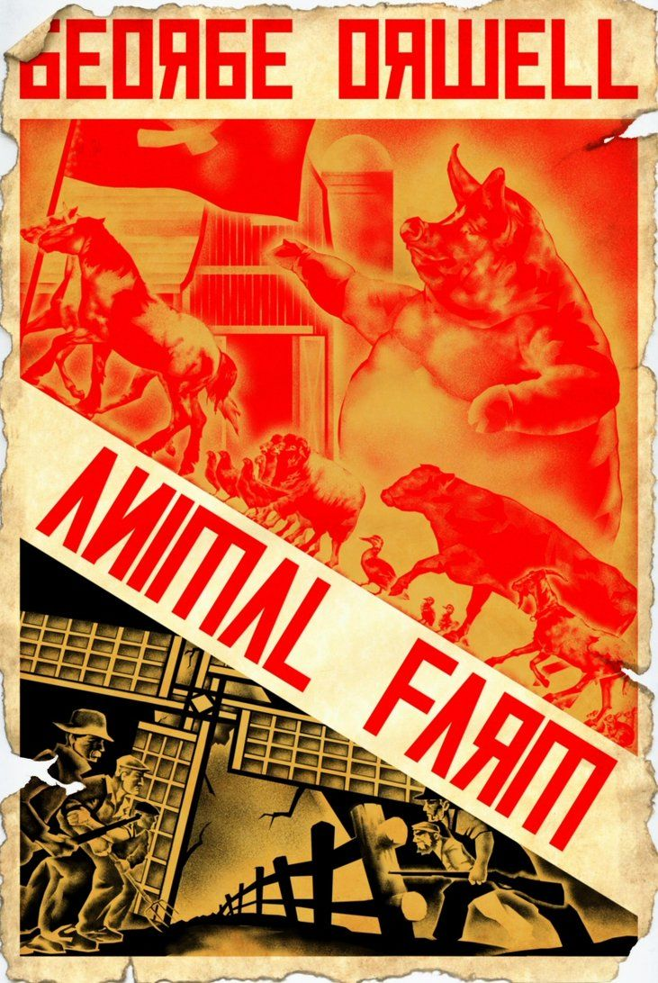 an analysis of the political satire of the animal farm a novel by george orwell The cia's choice of george orwell's animal farm to produce as an  staff obtain the screen rights to the novel  official quoted in the guardian.