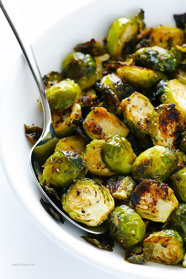 Miso Roasted Brussels Sprouts Recipe -- this side dish is quick and easy to…