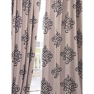 Tugra Printed Blackout Pole Pocket Curtain Panel | Overstock.com Shopping