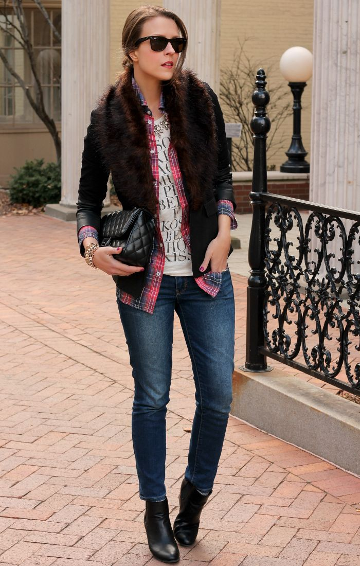 Penny Pincher Fashion : Fur and plaids