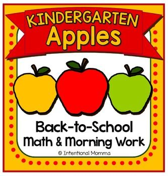 Featuring an apple theme, this 22 page file is perfect for back-to-school math and morning work! Includes 18 no prep black line worksheets, and 2 pages of colorful red, green, and yellow apple patterns for your classroom math centers! Students will create their own apple-themed ten frame booklet!