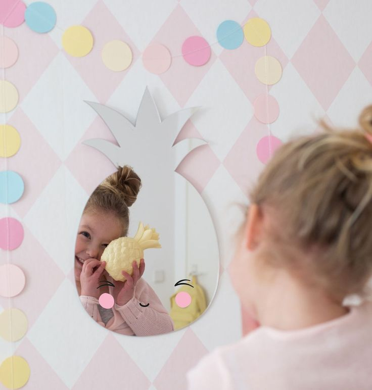 A little lovely company spiegel Ananas - DE GELE FLAMINGO - Kids concept store
