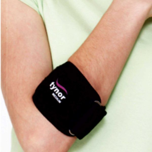 Tennis Elbow Support Category: Wrist & Fore Arm Tennis Elbow Support is designed to help provide relief from generalized pain and tenderness in the forearm and elbow caused by repetitive strain injury due to strong grip or active finger movement. It's quite often used by tennis players, golfers, racquet players, industrial workers etc Targeted pressure Freely breathable Custom compression and fit Soft and comfortable