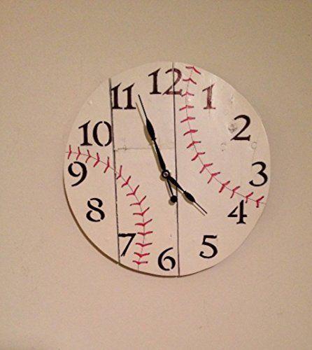 Rustic Wood Baseball Wall Clock, reclaimed, man cave gift, wood clock, woodworking, sports, baseball, kids room decor, child room decor  #Baseball #Cave #Child #Clock #Décor #Gift #Kid's #reclaimed #Room #Rustic #RusticWallClock #sports #Wall #Wood #woodworking The Rustic Clock