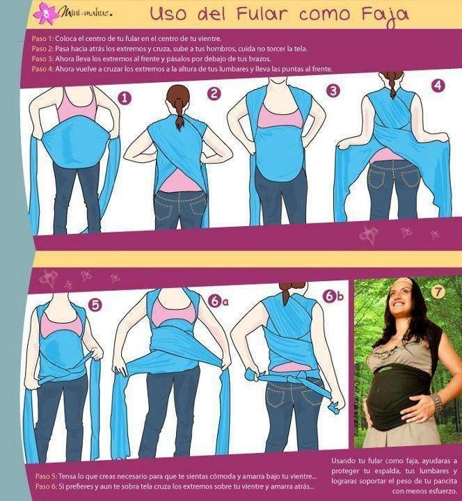 How to use your baby sling to support your belly in the last trimester.