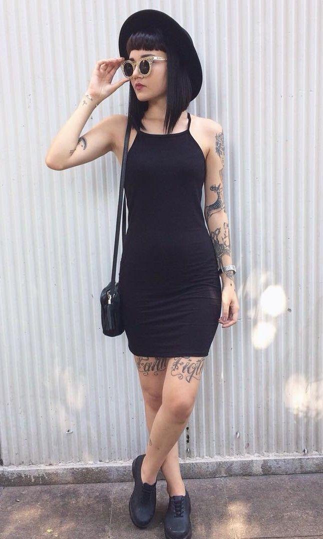 Mini Jersey Cami Dress - #dress #bodicon #grunge