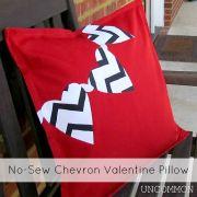 No-Sew Chevron Valentine Pillow { A Tutorial }