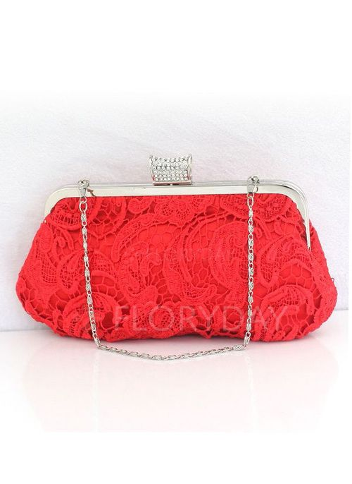 Bags - $20.22 - Clutches Fashion Polyester Red Medium Bags (1825111997)