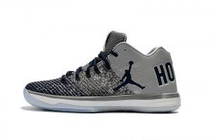 9ff3df3a536 Mens Air Jordan XXXI 31 Low Georgetown Hoyas Wolf Grey College Navy White  897564 007 Basketball