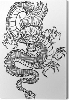 Dragon Tattoo Drawing, Chinese Dragon Tattoos, Tattoo Drawings, Japanese Tattoos, Chinese Dragon Art, Dragon Tattoo Back, Tattoo Ink, Tattoo Sketches, Dragon Line Drawing