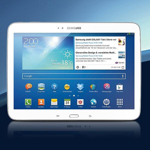 Zwei Kameras für Video-Chat und Schnappschüsse: Das Samsung GALAXY Tab 3 (10.0)