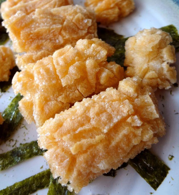 Simple nori okaki. Make your own Japanese rice crackers. | GOURMANDE in OSAKA