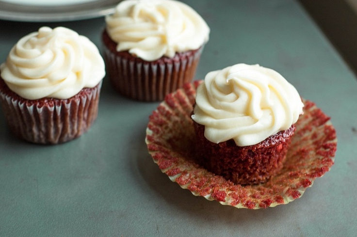 Southern Red Velvet Cupcakes | Princess in the Kitchen | Pinterest