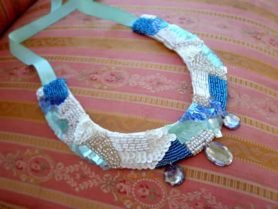 Statement Necklace by Vladi Lena by Vladilenashandmade on Etsy, $25.00