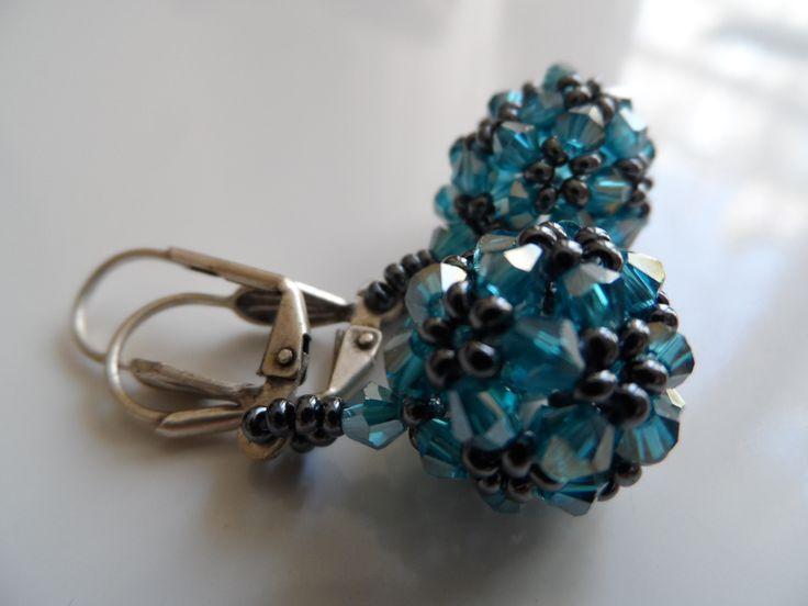 bicon ball earrings
