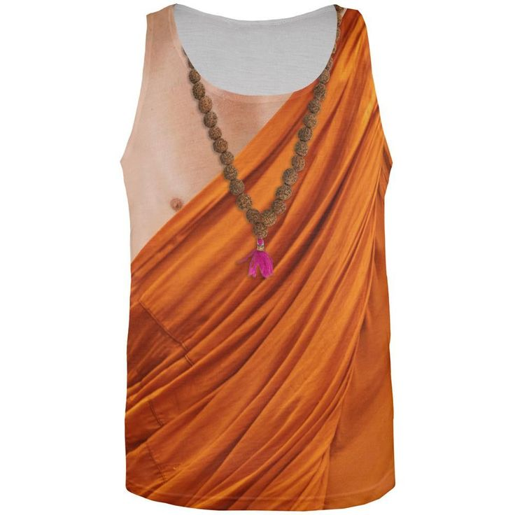 Buddhist Monk Costume All Over Adult Tank Top