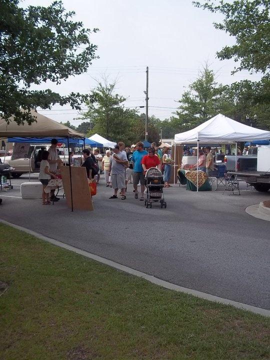 Main Street Statesboro Farmers Market 9:30 a.m. - noon Saturdays in the Sea Island Bank Parking Lot http://www.visitstatesboroga.com/where-to-shop/statesboro-mainstreet-farmers-market/