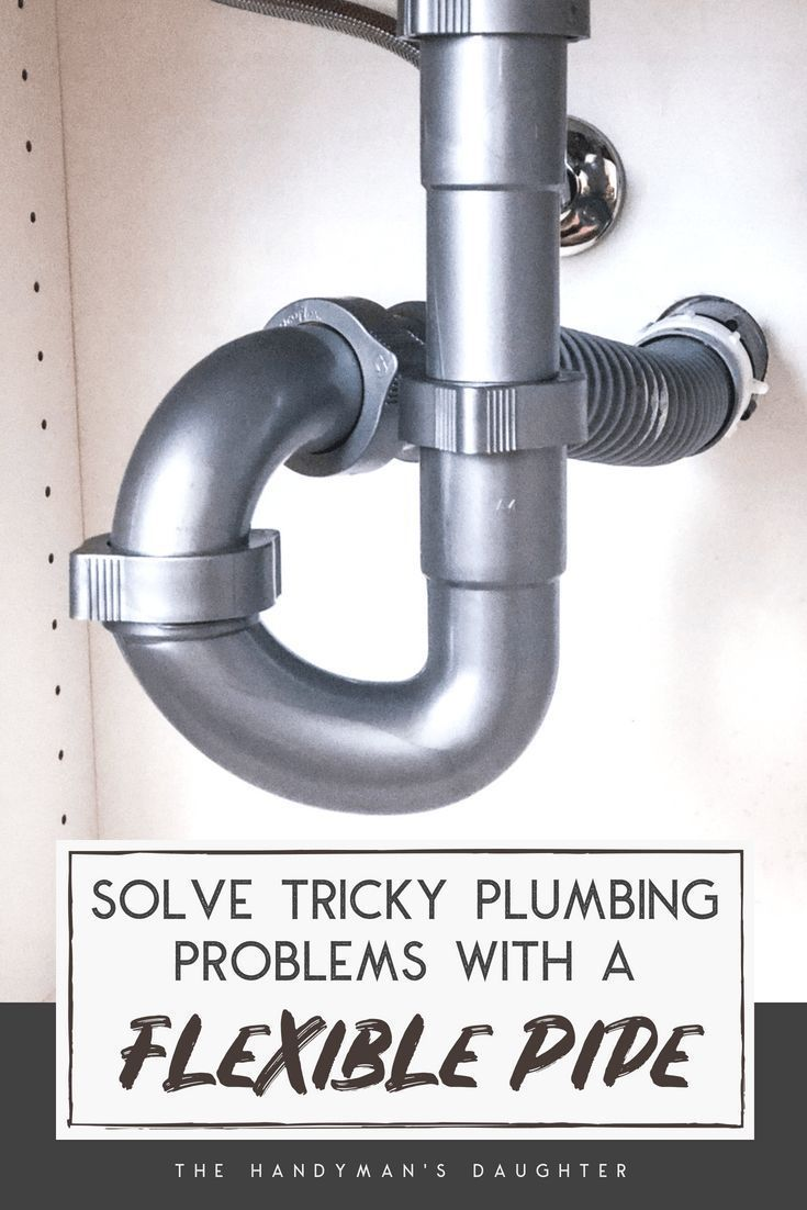 How to Install a Flexible Waste Pipe When the Drain Doesnut Line Up