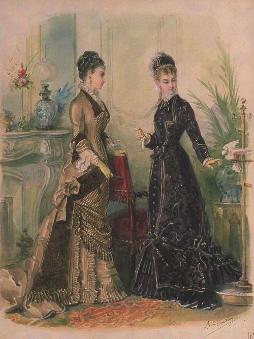La Mode Illustrée, 1877 fashion plate