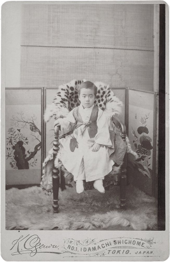 Portrait Of Kim Kyu-Sik (1881-1950), Called John, Protege of Rev Horace Grant Underwood, in Costume 1886/by Ogawa, Isshin. Natl Anthropological Archives SIRIS
