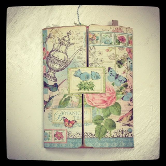 """Lap Book done in Graphic 45's """"Botanical Tea"""" collection."""