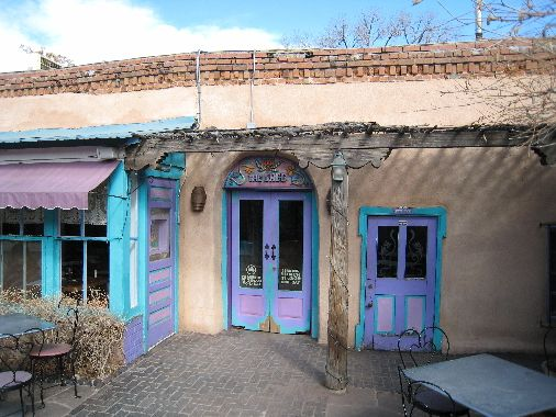 Best green chile stew in the world, beautiful location just off the plaza. Don't miss if you're in Santa Fe.