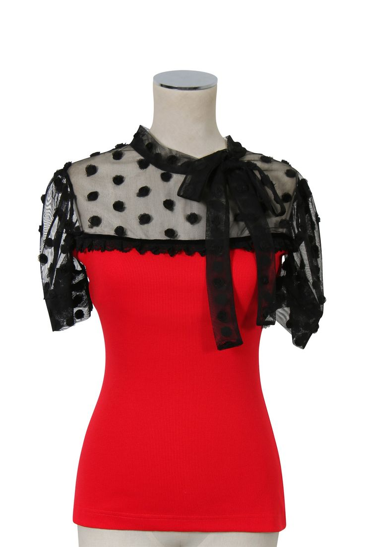 D'Amour Rosette Top (Red)