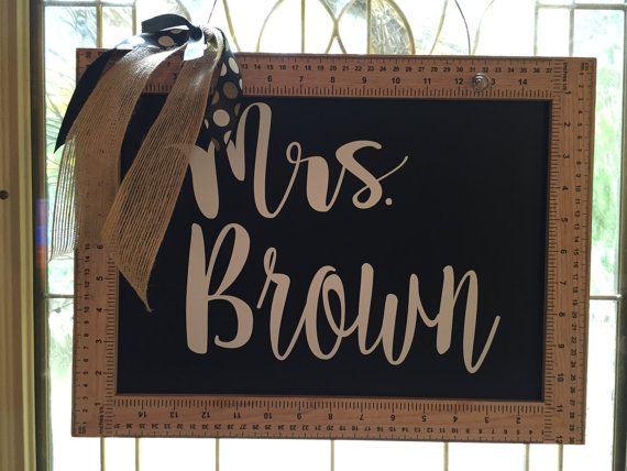 Teacher Door Hanger Back to School gift Door by VinylVineyardCo