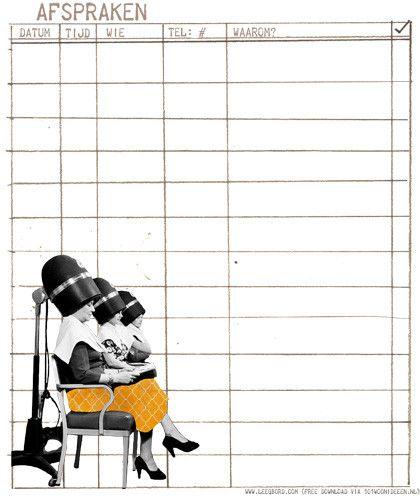 (free download) cute month planner by Gertrude van der Linden
