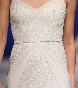 Sequin wedding dress - 'Lottie' gown with 'Genevieve' silk skirt overlay by Karen Willis Holmes