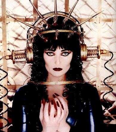 Siouxsie Sioux...... idk who that is but i like it cause it looks like elvira meets metropolis