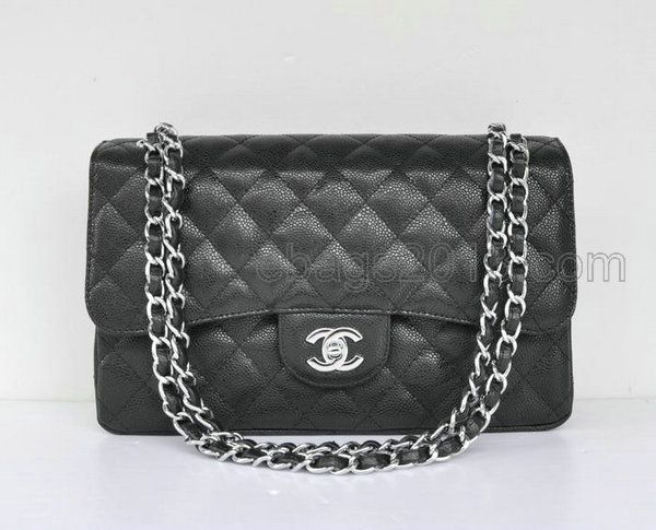 Chanel Replica Bags | 58600 Chanel bag Black Ball Pattern Silver Chain Black Inside - Please Click Picture To View ! Discount Up to 60% at www.herelly.com | Price: $191.05 | More Discount Chanel Replica HandBags: www.herelly.com/chanel/chanel-28600/