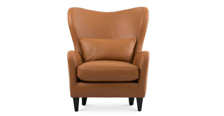 Polo Cognac Tan Leather Armchair - Lounge Chairs - Bryght | Modern, Mid-Century and Scandinavian Furniture